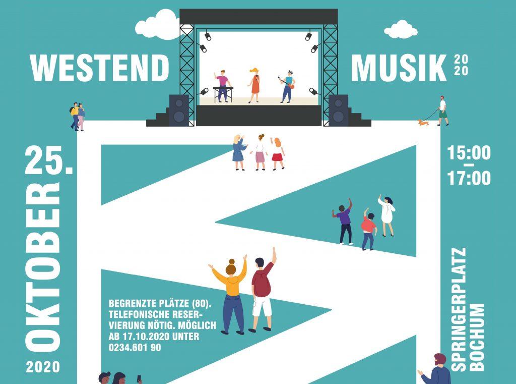 """ABGESAGT: """"Westend Musik"""" am 25. Oktober auf dem Springerplatz"""