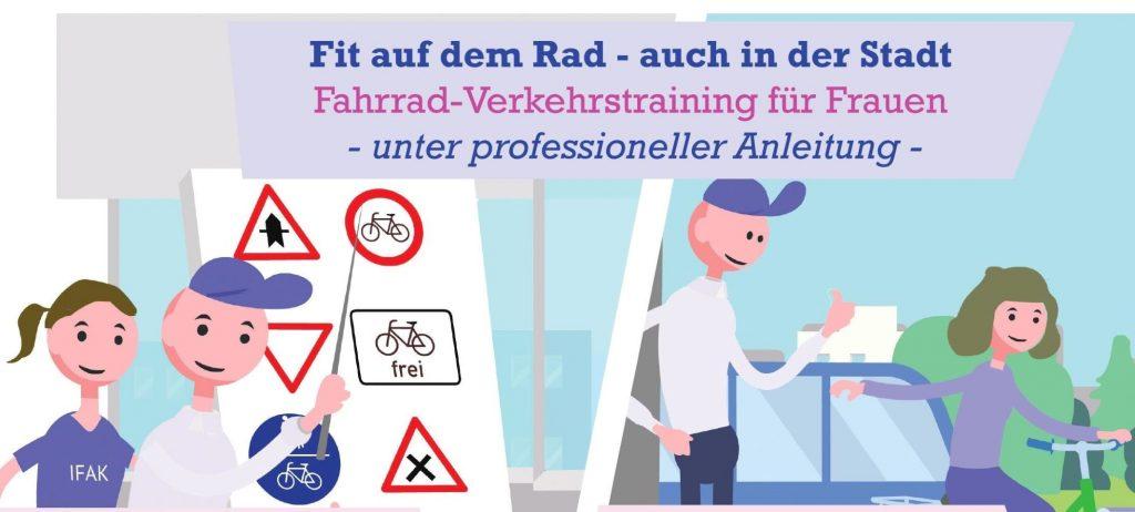 Fahrrad-Verkehrstraining für Frauen