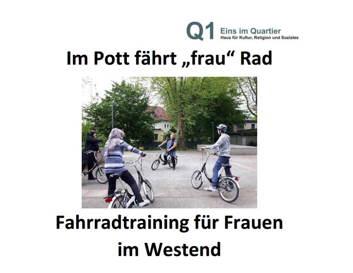 Fahrrad-Training für Frauen im Westend