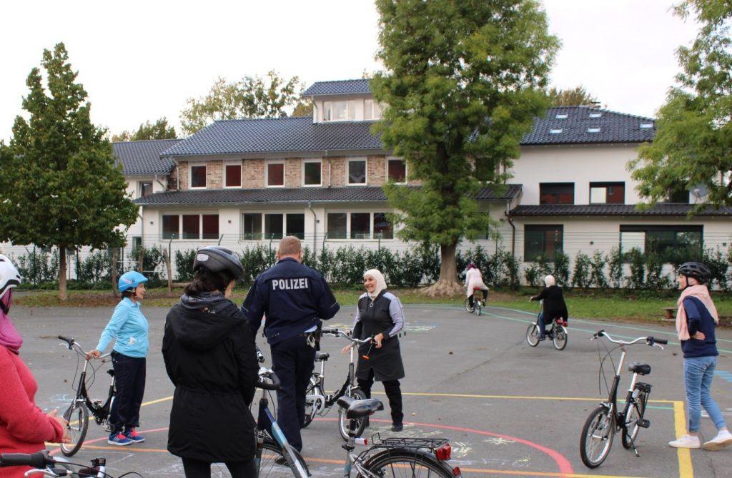 Fahrrad-Verkehrstraining im Westend