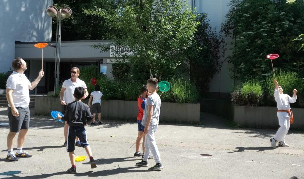 Am Q1 Jonglieren lernen