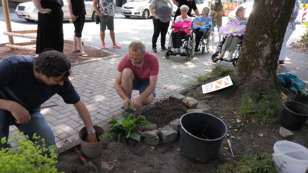 Erster Spatenstich: Urban Gardening an der Vereinsstraße